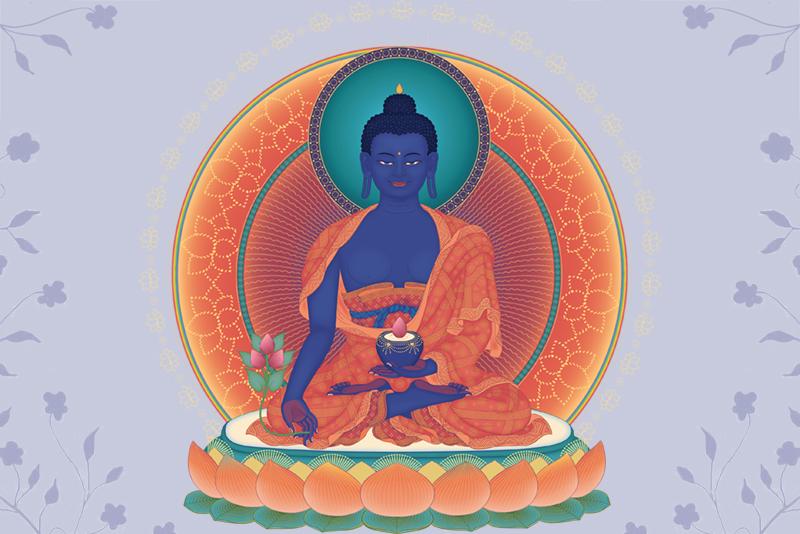 Recitace mantry Medicínského Buddhy